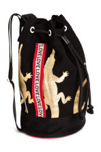 Printed backpack - Black/Gold -  | H&M 2