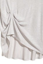 Draped top - Light grey - Ladies | H&M 2
