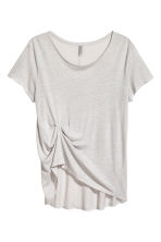 Draped top - Light grey - Ladies | H&M 1