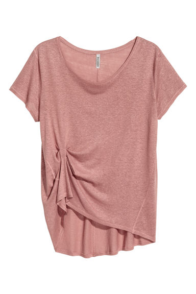 Draped top - Vintage pink - Ladies | H&M CN 1