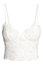 Bustier top - Natural white - Ladies | H&M CN 2
