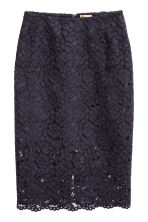 Lace pencil skirt - Dark blue -  | H&M CN 2