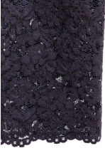 Lace pencil skirt - Dark blue -  | H&M 3