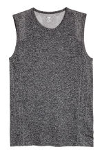 Seamless sports top - Dark grey marl - Men | H&M CN 2