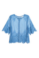 Lace top - Blue - Ladies | H&M CN 2