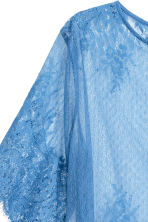 Lace top - Blue - Ladies | H&M CN 3