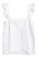 Lace top - White - Ladies | H&M 2