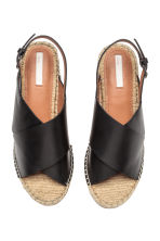 Wedge-heel sandals - Black - Ladies | H&M 2