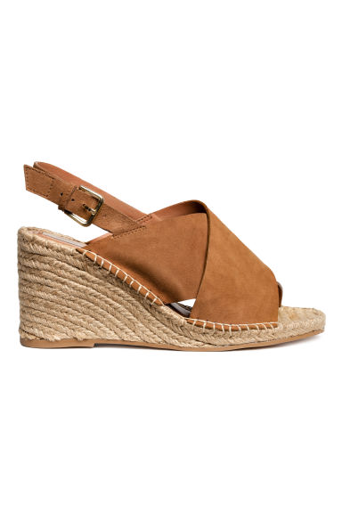 Wedge-heel sandals - Brown - Ladies | H&M CN 1
