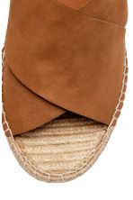 Wedge-heel sandals - Brown - Ladies | H&M CN 3