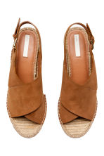 Wedge-heel sandals - Brown - Ladies | H&M CN 2