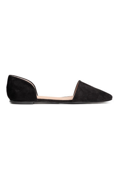 Open-sided flats - Black - Ladies | H&M 1