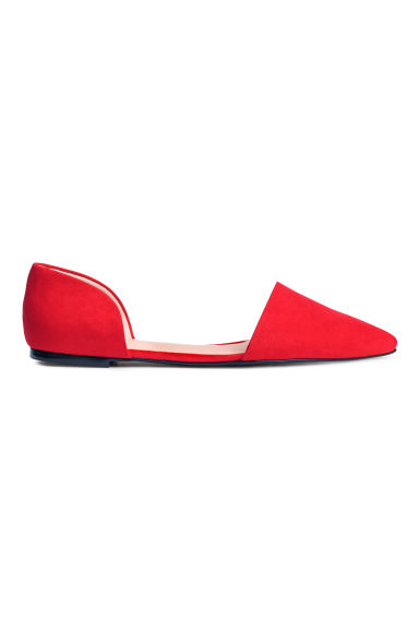 Open-sided flats - Red - Ladies | H&M