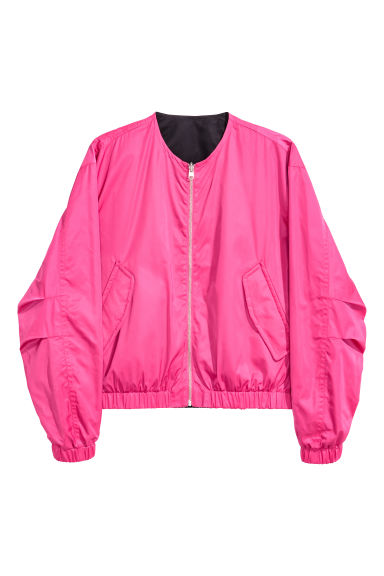 Reversible bomber jacket - Black/Cerise - Men | H&M 1