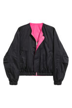 Reversible bomber jacket - Black/Cerise - Men | H&M 2