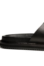 Grained leather sandals - Black - Men | H&M 4