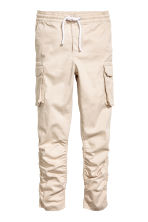 Cargo joggers - Light beige -  | H&M 2