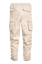 Cargo joggers - Light beige -  | H&M 3