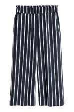 Culottes - Dark blue/Striped - Ladies | H&M 2