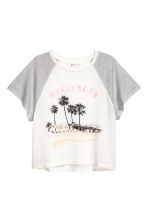 Short-sleeved jersey top - White/California - Kids | H&M 2