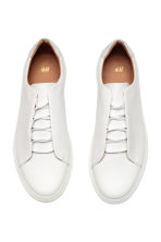 Leather trainers - White - Men | H&M CA 2