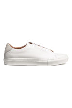 Leather trainers - White - Men | H&M CA 1