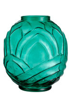 Textured glass vase - Petrol green - Home All | H&M GB 2
