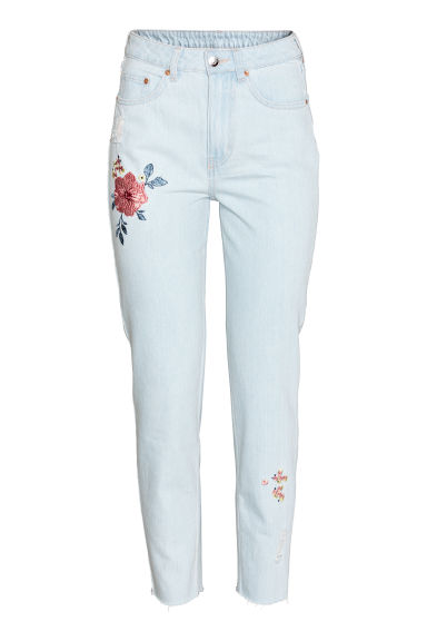 Jeans ricamati - Blu denim chiaro - DONNA | H&M IT 1
