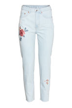 Embroidered jeans - Light denim blue - Ladies | H&M CN 1