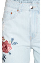 Embroidered jeans - Light denim blue - Ladies | H&M CN 3