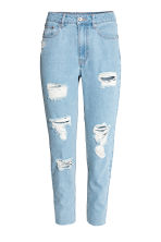 Mom Jeans Trashed - Licht denimblauw - DAMES | H&M BE 2