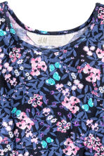 Jersey dress - Dark blue/Floral -  | H&M 3