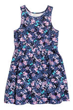 Jersey dress - Dark blue/Floral -  | H&M CN 2