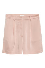 High-waisted shorts - Powder pink - Ladies | H&M CN 2