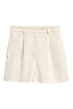 High-waisted shorts - Light beige -  | H&M 2