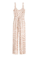 V-neck jumpsuit - Beige - Ladies | H&M CN 2