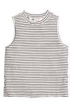 Sleeveless top - White/Striped - Kids | H&M CA 2