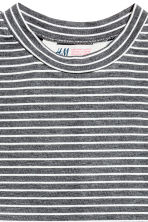 Sleeveless top - Dark grey/Striped - Kids | H&M CN 3