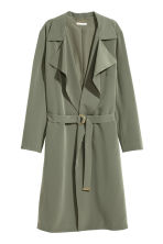 Trenchcoat - Khaki green - Ladies | H&M 2