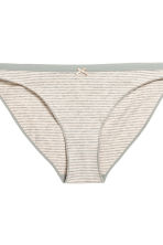 3-pack bikini briefs - Grey/Striped - Ladies | H&M CN 4