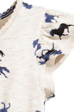 Printed jersey dress - Light beige/Horses - Kids | H&M CN 3
