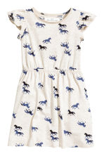 Printed jersey dress - Light beige/Horses - Kids | H&M CN 2