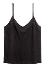 V-neck strappy top - Black - Ladies | H&M 2