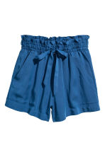 Lyocell shorts - Dark blue - Ladies | H&M CN 2