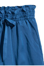 Lyocell shorts - Dark blue - Ladies | H&M CN 3