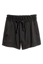 Lyocell shorts - Black - Ladies | H&M 2