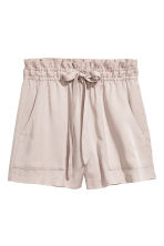 Lyocell shorts - Light mole - Ladies | H&M 2