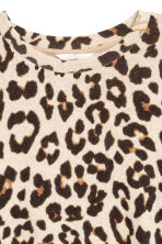Fine-knit jumper - Leopard print - Ladies | H&M CN 3