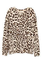 Fine-knit jumper - Leopard print - Ladies | H&M CN 2