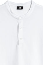 T-shirt with buttons - White - Men | H&M 3